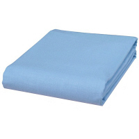綿100%ロング&ワイド平織りフラットシーツシングル 同色2枚セット ブルー 6348220 ファミリー・ライフ 1セット (直送品)