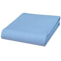 綿100%ロング&ワイド平織りフラットシーツ ダブル 同色2枚セット ブルー 6348320 ファミリー・ライフ 1セット (直送品)