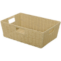 アイリスオーヤマ カラー編みバスケット ベージュ KAB-38 1個 (直送品)