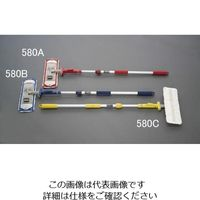エスコ(esco) 1110-1800mm 伸縮ダスターモップ(青) 1本 EA928AB-580B(直送品)