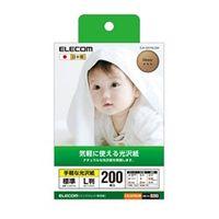 esco(エスコ) L判インクジェット写真用紙(200枚) EA759XA-12B 1セット(800枚:200枚×4セット) (直送品)