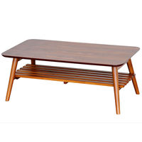 佐藤産業 セレノ棚付きリビングテーブル ブラウン 幅900×奥行500×高さ350mm 1脚 (直送品)