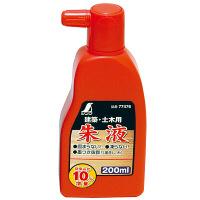 シンワ測定 朱液 200mL 77476 1セット(6本) (直送品)