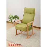 YAMAZEN レバー式ポケットコイル高座椅子 幅585×奥行630×高さ970-1090mm ライトグリーン PHC-60(LGR) 1脚 (直送品)