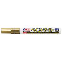シンワ測定 工事用 ペイントマーカー 中字 丸芯 ゴールド 78420 1セット(10本) (直送品)