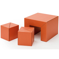 METROCS(メトロクス) カートンファニチャー リキ キッズセット オレンジ MF12-KIDS-OR 1セット (直送品)