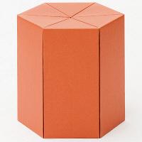 METROCS(メトロクス) カートンファニチャー リキスツール ロー オレンジ MF12-SL-OR 1脚 (直送品)