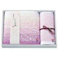 今治タオルギフト しまな美織 渚 バスタオル1枚 ウォッシュタオル1枚 ピンク (直送品)