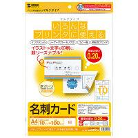 サンワサプライ マルチ名刺カード(白) JP-MCMT01N 1セット(5冊入) (直送品)