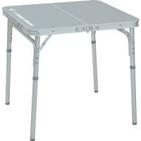 <LOHACO> CampersCollection(キャンパーズコレクション) サイドフォールディングテーブル 幅600×奥行600mmシルバーYST-6060 1台(直送品)