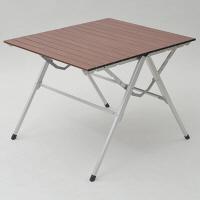 <LOHACO> CampersCollection(キャンパーズコレクション) スタイルワンアクションテーブル 幅810×奥行700mm ブラウン 1台 (直送品)