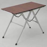 CampersCollection(キャンパーズコレクション) スタイルワンアクションテーブル 幅810×奥行400mm ブラウン 1台 (直送品)