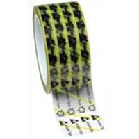 DESCO テープ、WESCORP、透明、静電気防止、黄色ストライプ マーク付き、51mmx65.8m、76mm ID 79278  (直送品)