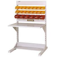 ラインテーブル W900サイズ片面単体 作業台 HRK-0913-YC 山金工業 (直送品)
