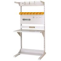 ラインテーブル W900サイズ片面単体 作業台 HRK-0918-FPYC 山金工業 (直送品)