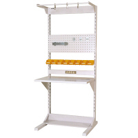 ラインテーブル W900サイズ片面単体 作業台 HRK-0921-FPYC 山金工業 (直送品)