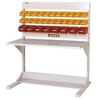 ラインテーブル W1200サイズ片面単体 作業台 HRK-1213-YC 山金工業 (直送品)