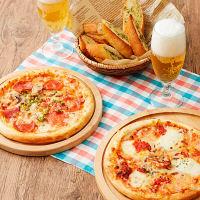 デルソーレ ピザ2種とバゲット