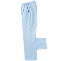 KAZEN レディススラックス 医療白衣 サックス S 192-21 (直送品)