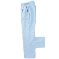 KAZEN レディススラックス 医療白衣 サックス LL 192-21 (直送品)