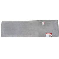 リブボーダー キッチンマット 50×180cm グレイ (直送品)