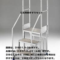Hasegawa(長谷川工業) アルミ合金 作業足場台 DGB1.0用 両側手摺り DBG1.0-T4/5W110 1台 (直送品)
