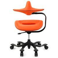 吉桂 iPole7(アイポール7) オフィスチェア ノーマルキャスター ファブリック オレンジ J0152 1脚 (直送品)