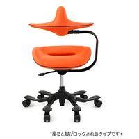吉桂 iPole7(アイポール7) オフィスチェア ストッパー付キャスター メッシュファブリック オレンジ J0030 1脚 (直送品)