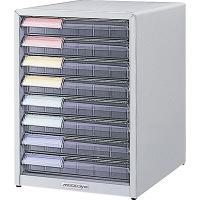 ナカバヤシ メディシス フロアケース デスクトップタイプA4 S×8 幅300×奥行370×高さ410mm MAD-201N 1台 (直送品)