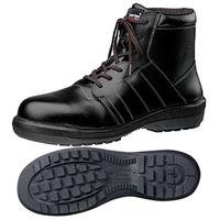 ミドリ安全 JIS規格 安全靴 中編上 ハイカット RT722N 24.5cm ブラック 1足 1810001208(直送品)