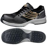 ミドリ安全 JSAA認定 耐滑 作業靴 プロスニーカー SLS701 静電 22.5cm ブラック 1足 2125044604(直送品)