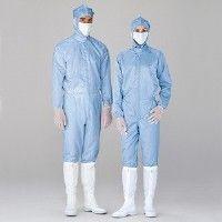 ミドリ安全 無塵服 クリーンウェア 一般型男女共用クリーンスーツS1080B ブルー LL 3148002206 1着 (直送品)