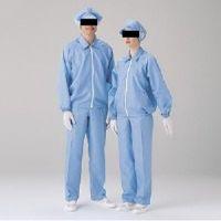 ミドリ安全 クリーンウェア 男女共用 長袖 S3202B L ブルー 1着 3140002905(直送品)
