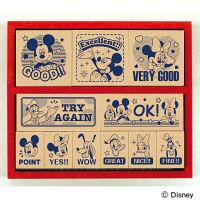 ビバリー 木製ごほうびスタンプ ディズニー ミッキーマウス 英語 SDH-078 (直送品)