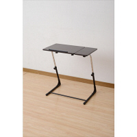 YAMAZEN(山善) CYBER COM 高さが変えられるサイドテーブル DPS7040(DBRBK) ダークブラウン・ブラック 1台 (直送品)
