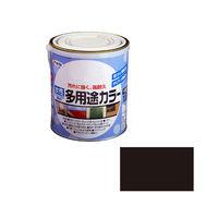 アサヒペン 水性多用途カラー 1.6L ツヤ消し黒 (直送品)