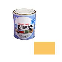 アサヒペン 水性多用途カラー 1.6L ブライトイエロー (直送品)