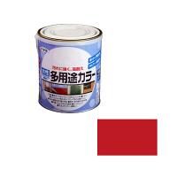 アサヒペン 水性多用途カラー 1.6L 赤 (直送品)