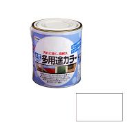 アサヒペン 水性多用途カラー 1.6L ツヤ消し白 (直送品)