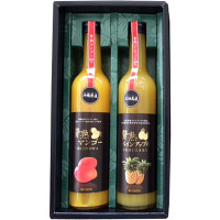 贅熟 パインジュース&マンゴージュース飲料 2本詰合せ (直送品)