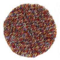 大一商事 Comun 目の詰まったマイクロファイバーチェアパッド マーブル 直径380mm ピンク 1枚 (直送品)