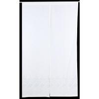 大一商事 kucch 繊細な刺繍 のれん ウルバ 幅850×奥行1500mm パール 1枚 (直送品)