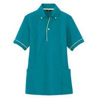 AITOZ(アイトス) サイドポケットポロ(男女兼用) AZ7668 ピーコックブルー L 介護ユニフォーム ポロシャツ 半袖(直送品)