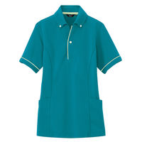 AITOZ(アイトス) サイドポケットポロ(男女兼用) AZ7668 ピーコックブルー LL 介護ユニフォーム ポロシャツ 半袖(直送品)