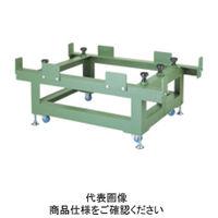 ナベヤ(NABEYA) 重量作業台 石定盤用アングル台(キャスター付) GP06090-SAC 1台(直送品)