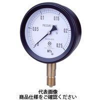 第一計器製作所 MPK金属密閉圧力計SUS AU G1/2 100×6MPa MPK-446A-6MPA 1台 (直送品)