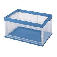 積水テクノ成型 折りたたみコンテナ OC-50N 窓あきタイプ 透明ブルー 50LNCB 1セット(5台入) (直送品)