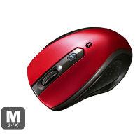 サンワサプライ Bluetoothマウス レッド 静音タイプ Bluetooth3.0/ブルーLED方式/5ボタン MA-BTBL28R (直送品)