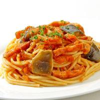 【レストラン業務用】本格生パスタ ナスとベーコンのトマトソース タリオリーニ 計5食セット (直送品)