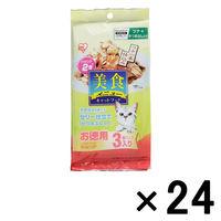 ケース販売 美食メニュー キャットフード ツナ一本仕込み かつおぶし入り ゼリー仕立て 1ケース(24個) アイリスオーヤマ (直送品)